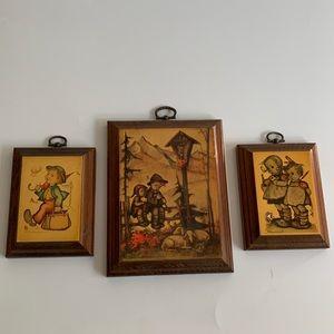 3 Hummel Wood Plaques